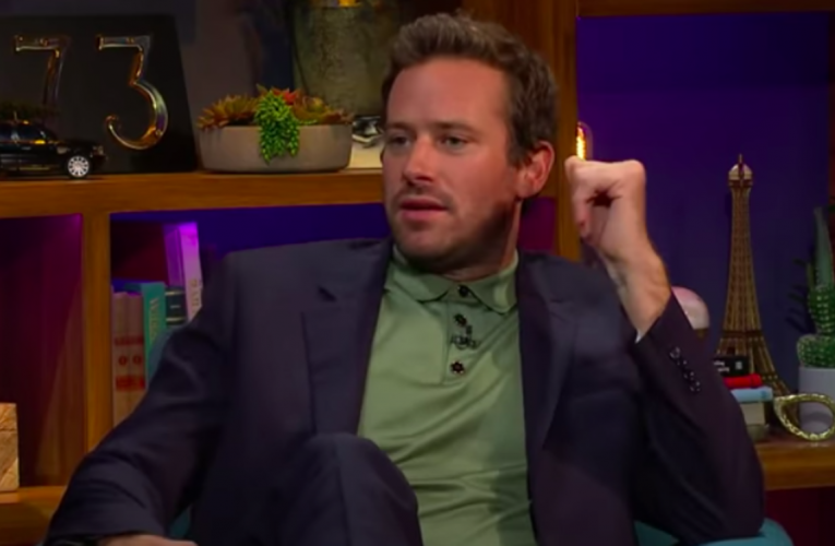 Armie Hammer's Ex-GF: He Needed To Barbecue & Eat Me!!
